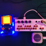 Critter and Guitari Bolsa Bass with Game Boy LDSJ